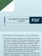 Régimen Patrimonial Del Estado