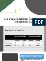 Los artículos definidos e indefinidos