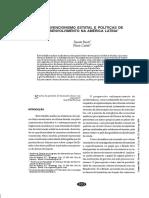 BOSCHI, Renato  and  GAITAN, Flavio Intervencionismo estatal e políticas de desenvolvimento na América Latina 2008, vol.21, n53
