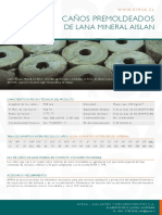 Aislante Premoldeado Lana Mineral AYRSA
