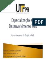 PMBOK - Especialização em Desenvolvimento Web