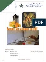 Rapport de qualité de fruit