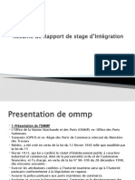 Résume de Rapport de Stage d'Intégration
