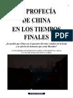 LA PROFECÍA DE CHINA EN LOS TIEMPOS FINALES