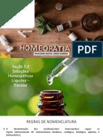 Seção 3.2 - Diluições Homeopáticas Líquidas – Escalas