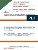 IMPORTANCIA DE LOS INCENTIVOS