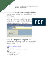 Create a Simple BSP