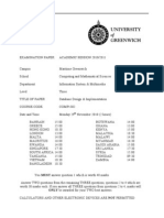 Database Design and Implementation Exam December 2010 - UK University BSc Final Year