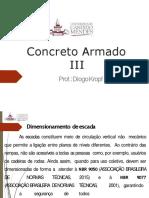 CONCRETO ARMADO III - Dimensionamento de escada