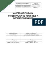 PROCEDIMIENTO PARA CONSERVACION DOCUMENTAL