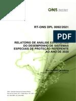 Relatório de Análise Estatística Do Desempenho de SEP_2020_por Central Geradora_REN ANEEL 697