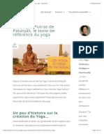 Les Yoga S*utras de Patanjali, le texte de référence du yoga - YogiTouch