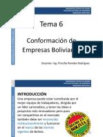 Tema 6_ Conformación de Empresas Bolivianas