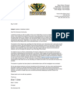 Rio Americano Flag Letter Update