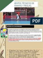 4.1 DEFINICION DE LA TECNICA DEL BALON MANO
