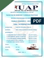 Trabajo Académico Grupal - Derecho Procesal Penal III - Sección 02 y 04 - Tacna
