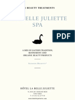 Spa Treatment Menu - La Belle Juliette