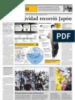 La radiactividad rerorrió Japón