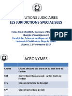 Les juridictions spécialisées Sénégal