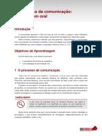 Tema 1 - O processo de comunicação - a linguagem oral