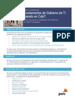 Curso y Certificación | Fundamentos de Gobierno de TI basado en CobiT | PwC Venezuela