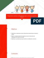 Respostas Sociais e Educativas Para Crianças e Jovens