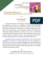 L'inconscient 1915 - Freud - Texte fondateur