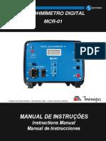 Manual de Instruções do MCR-1 MINIPA