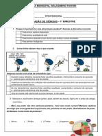 AVALIAÇAO DE CIENCIAS 1 BIMESTRE - pronta