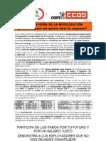 COMUNICADO CONJUNTO (SÉPTIMO NEGOCIACIÓN CONVENIO) 11/03/2011