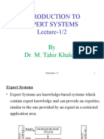 Introduction to Expert Systems (1 of 2)