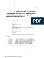 Contribution to Expert Diagnosis and Risk Analysis in Underground Masonry Structures Through Numerical Modeling