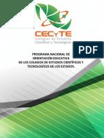 PROGRAMA DE ORIENTACION EDUCATIVA CECyTE