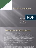 Prospectus of a company-FINAL