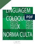 Aula 2 - Linguagem coloquial e culta na língua portuguesa