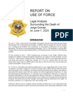 Legal Analysis Surrounding the Death of Jorge Gomez on June 1, 2020
