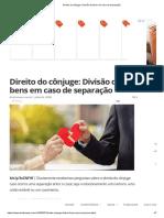 Direito do cônjuge_ Divisão de bens em caso de separação