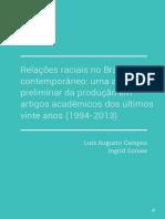 Relacoes Raciais No Brasil Contemporaneo