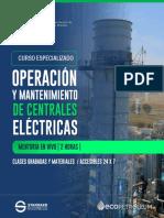 Brochure de Curso Grabado de Operación y Mantenimiento en Centrales Eléctricas