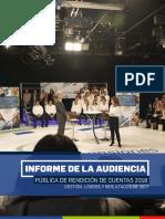 Audiencia pública de rendición de cuentas 2018 - Gestión 2017