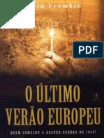 O Ultimo Verao Europeu - David Fromkin