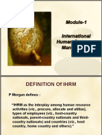 International Human Resource Management[Module-1]