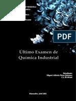 Perez Miguel. Examen Quimica Industrial