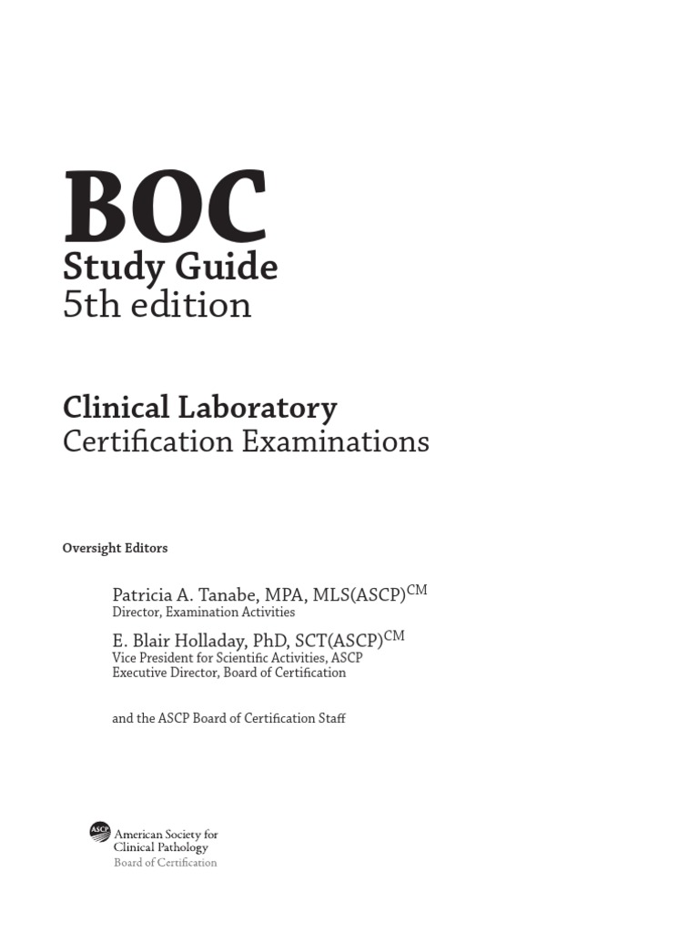Ascp Sttudy Guide Professional Certification Credential