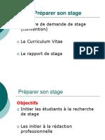 GM2 Lettre CV Rapport de Stage