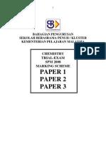 SPM Percubaan 2008 SBP Chemistry Answers