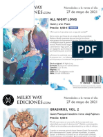 Novedades Milky Way Mayo 2021