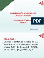SERIE 1_Solucionario CONCENTRACION DE MINERALES EJERCICIOS