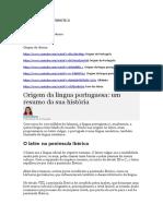 1ª aula. Origem da língua portuguesa