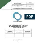 3019382_ELE-O-PR01 PROCEDIMIENTO PARA MONTAJE DE TRANSFORMADORES DE POTENCIA CONEXIONES Y PRUEBAS - OK